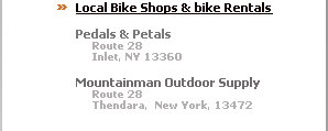Old Forge Bike Shops, Mountain Bike Race